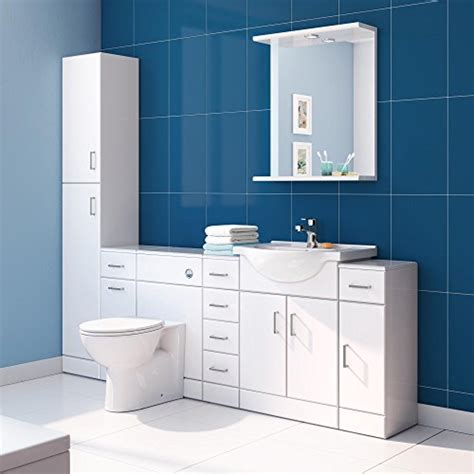 Gloss White Bathroom Cabinets by Gloss White Bathroom Cupboard Reversible Storage