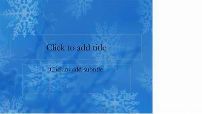 Winter Snowflakes Slides Templates Office Powerpoint