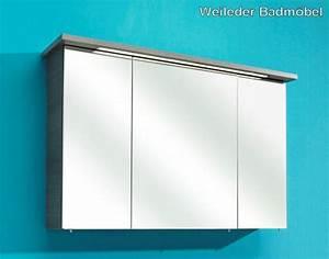 Spiegelschrank 110 Cm : pelipal velo bad spiegelschrank 110 cm mit beleuchtung 3 t ren aversa anthrazit ebay ~ Indierocktalk.com Haus und Dekorationen