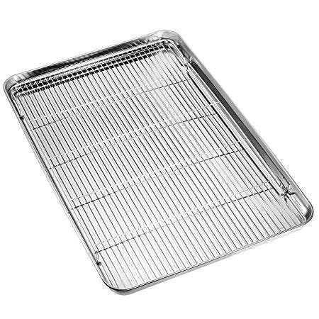 sheet cookie baking stainless steel nonstick rack sheets toaster cooling oven tray hkj chef racks pan toxic non pans