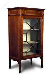 mahogany display cabinet mahogany inlaid small display cabinet antiques atlas 3954