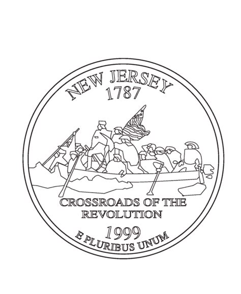 usa printables  jersey state quarter  states