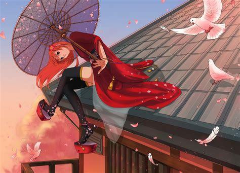 Gintama Kagura Anime Girls Wallpapers Hd Desktop And