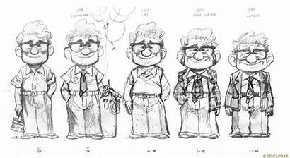 Character Pixar Disney 2009 Characters Concept Lines