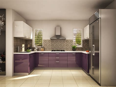 Cactus U-shaped Modular Kitchen Designs India
