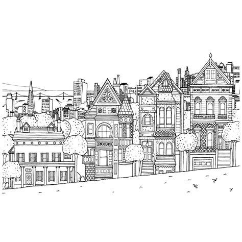 Huizen Kleurplaat by Leuk Voor Huizen In Een Straat