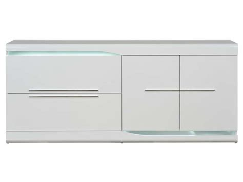 magasin canape buffet 2 tiroirs 2 portes ovio coloris blanc laqué