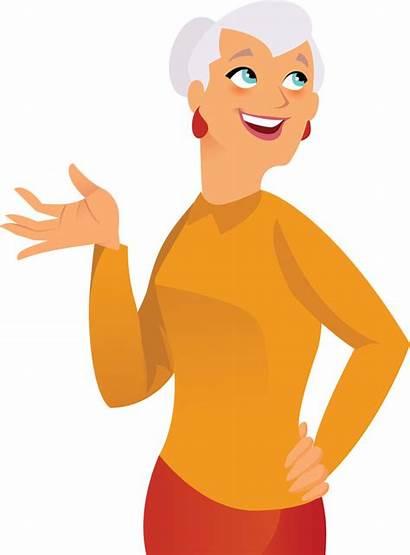 Grandma Clip Grandpa Clipart Grandmother Fun Happy