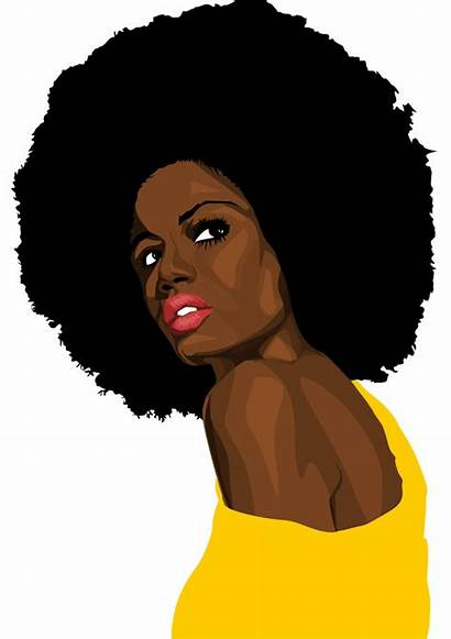 Afro Woman Clipart Negra Mulher Drawing Chef
