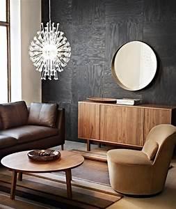 Braunes Sofa Welche Wandfarbe : glamour se kombi braune holzt ne und sattes schwarz bild 6 sch ner wohnen ~ Watch28wear.com Haus und Dekorationen
