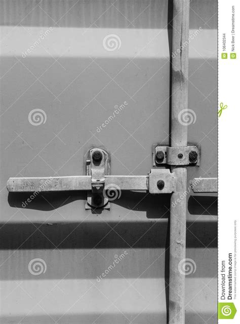 Detailed View Of The Locking System On A Standard Shipping