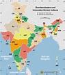 Indien bundesstaaten und unionsterritorien map - Maps of India