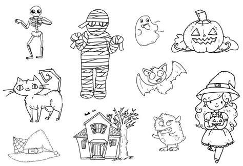 Dibujos Halloween Dibujos Halloween Para Colorear Imprimir Y Recortar