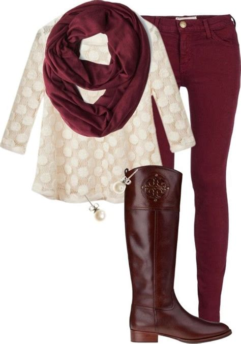 1000 Images About Maroon Jeans Outfits Ideas On Pinterest