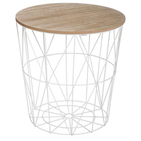 "Table D'appoint Design ""kumi"" 41cm Blanc"