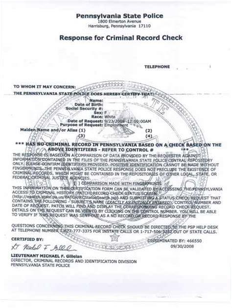 Fbi Background Check Fbi Criminal Background Check Pa