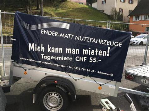 pkw anhänger günstig pkw anh 228 nger g 252 nstig mieten in liechtenstein in schaanwald