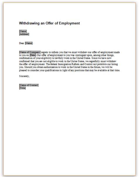 sample letter  notice   employment
