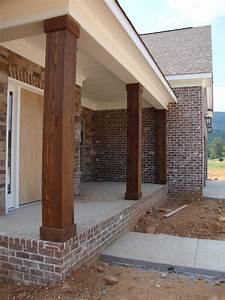 Home Building Project: Cedar Columns, Lighting, and