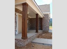 Home Building Project Cedar Columns, Lighting, and
