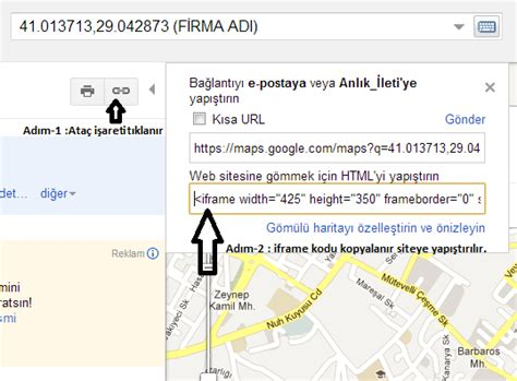 siteye google haritasi ekleme engincodecom