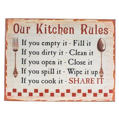 Our Kitchen Rules' Sign   The Place for Homes