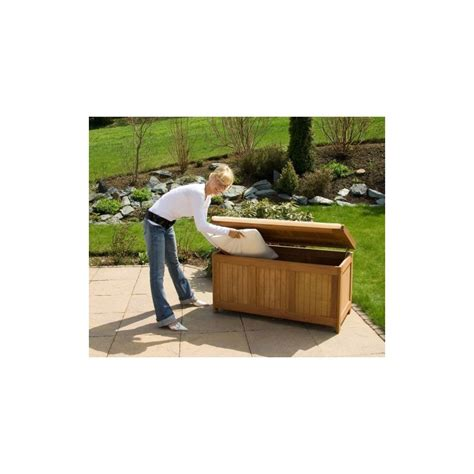banc de rangement exterieur banc coffre de rangement jardin ext 233 rieur en bois avec coussin