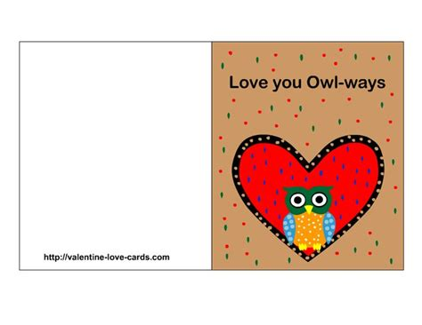I Love You Valentine's Card Printable Free