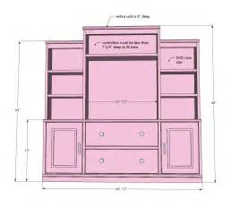 Hoosier Kitchen Cabinets by Diy Full Wall Entertainment Center Plans Plans Free