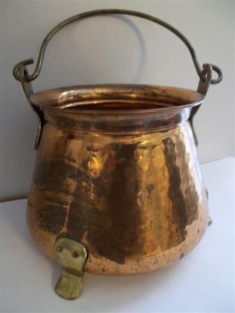 vintage copper pot bucket cauldron pail  copper brass etsy koperwerk koper brons