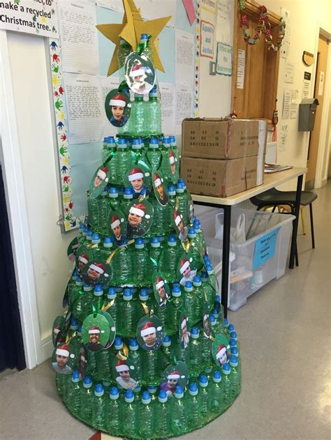 class recycled christmas tree competition