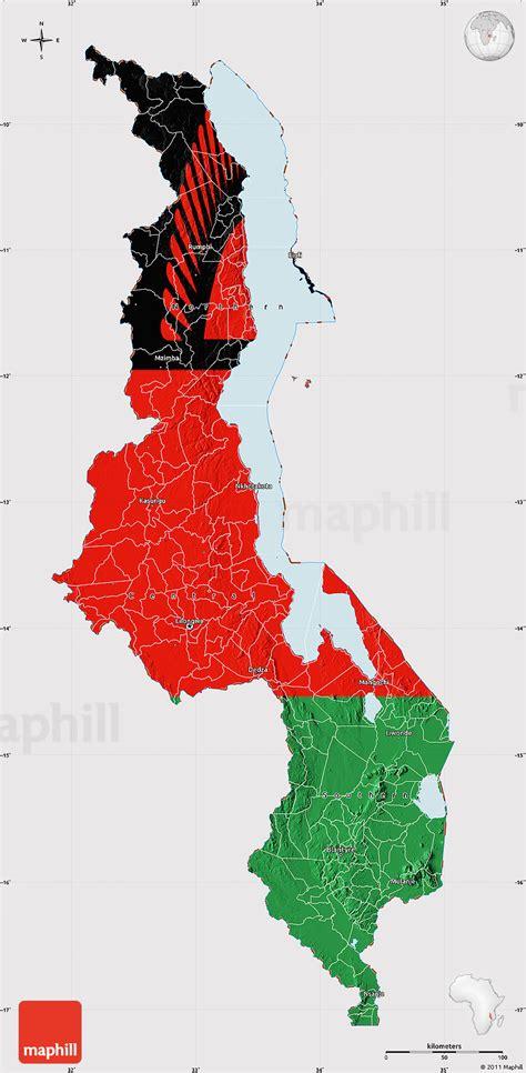 flag map  malawi