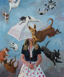 raining cats and dogs saatchi artist fiona phillips 2012 painting