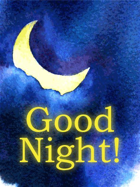 moon light good night  card birthday greeting