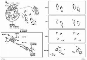Toyota 4runner Shim Kit  Anti Squeal For Rear Disc Brake