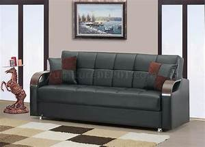 soho sofa bed in black bonded leather by rain w optional items With bonded leather sofa bed