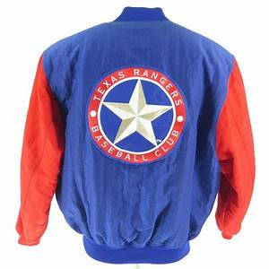 vintage 90s starter texas rangers jacket mens xl mlb With texas letter jackets