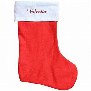 Chaussette De Noel Personnalisée : botte de no l rouge personnalis e une chaussette de noel ~ Melissatoandfro.com Idées de Décoration