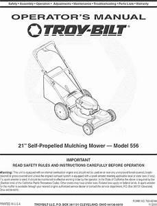 Troybilt 12av556o711 User Manual Mower Manuals And Guides
