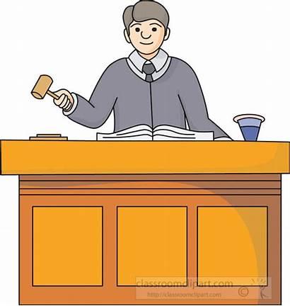 Judge Courtroom Clipart Legal Transparent