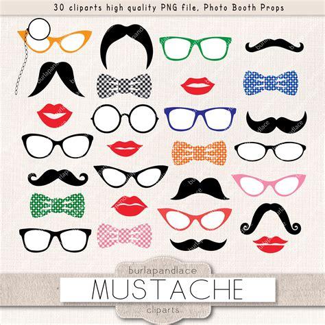 mustache party clipart illustrations creative market