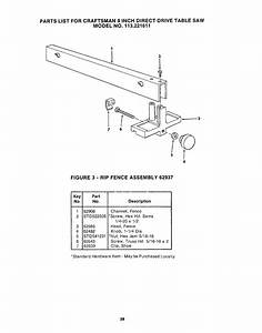 Craftsman 113221611 User Manual 8 In  Direct Drive Table