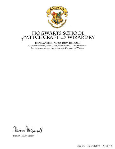 harry potter letter template free printable harry potter hogwarts invitation template free invitation templates drevio