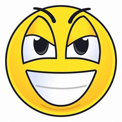 Evil Grin Emoticon Sonrisa Malvado Emoji Laugh