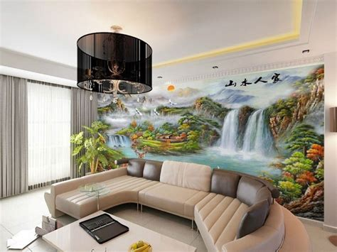 wallpaper designs  living room india gallery