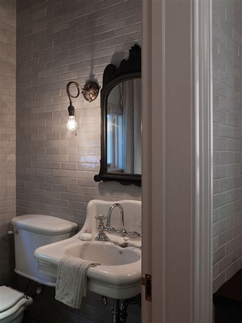 grey subway tiles transitional bathroom hsh interiors