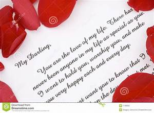 Valentines love letter. stock photo. Image of rose, paper ...
