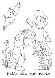 Frases del Día del niño para colorear 04 Día del niño