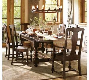 dining room table pottery barn marceladickcom With barn style table and chairs