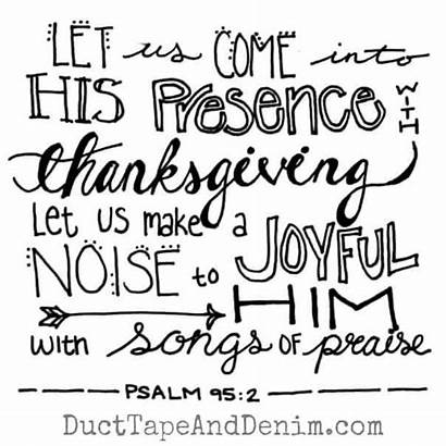 Psalm Thanksgiving Tablecloth Easy Ducttapeanddenim Verses